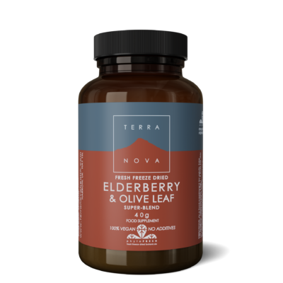 2282 UK ELDERBERRY OLIVE LEAF SUPER BLEND 40g wiz