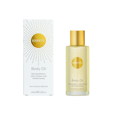 Hayou body oil and box straight w
